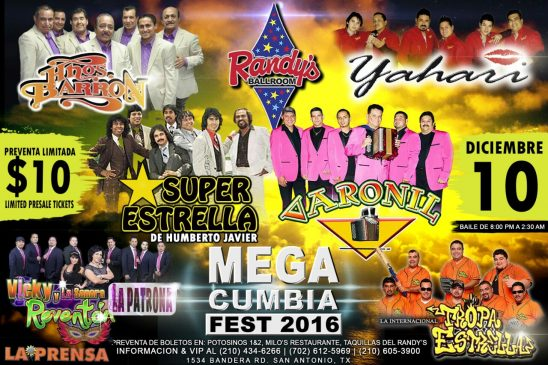 MEGA CUMBIA FESTIVAL 2016